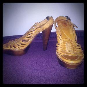 "Frye ""Joy"" huarache heeled sandals - size 10"